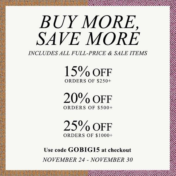 Major SHOPBOP Sale! Buy More, Save More!