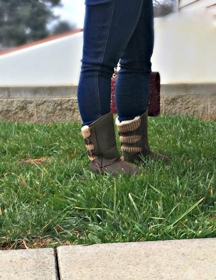 Famous Footwear Bearpaw boots standing