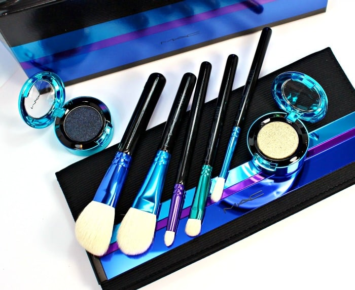 MAC Holiday Brushes Pigments swatches review 2015