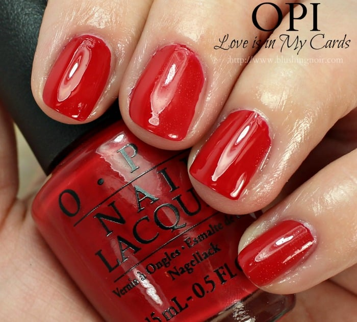 OPI Love is in My Cards Nail Polish Swatches