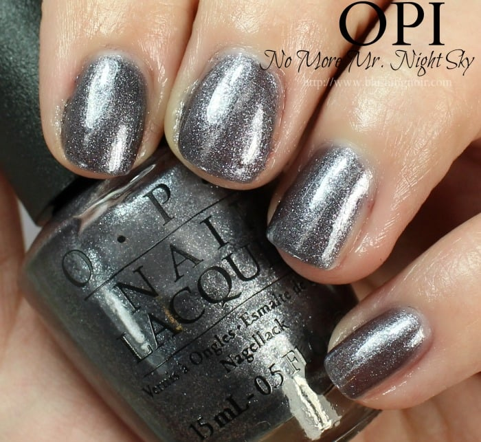 OPI No More Mr. Night Sky Nail Polish Swatches