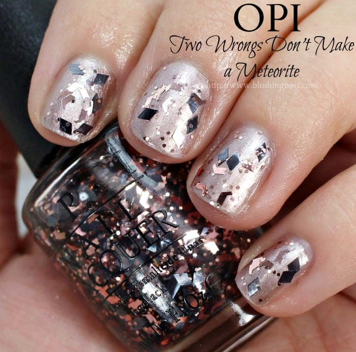 OPI Two Wrongs Don't Make a Meteorite Nail Polish Swatches