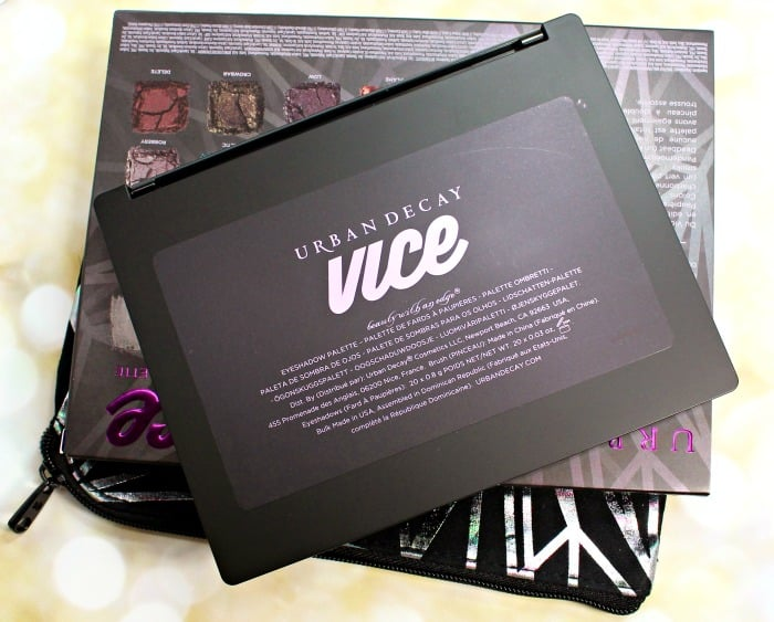Urban Decay Vice4 back palette