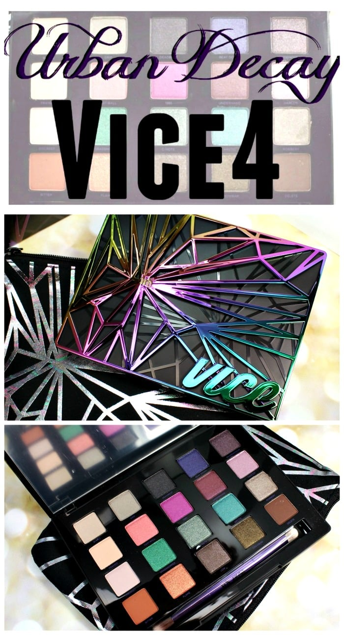 Urban Decay Vice4 eyeshadow swatches review palette holiday #colorunleashed