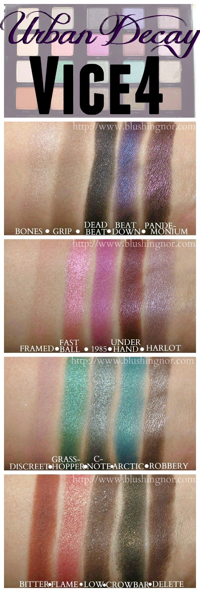 Urban Decay Vice 4 Eyeshadow Palette Swatches Amp Review