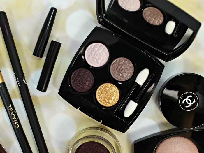 chanel Signe Particulier quadra eyeshadow quad swatches holiday 2015