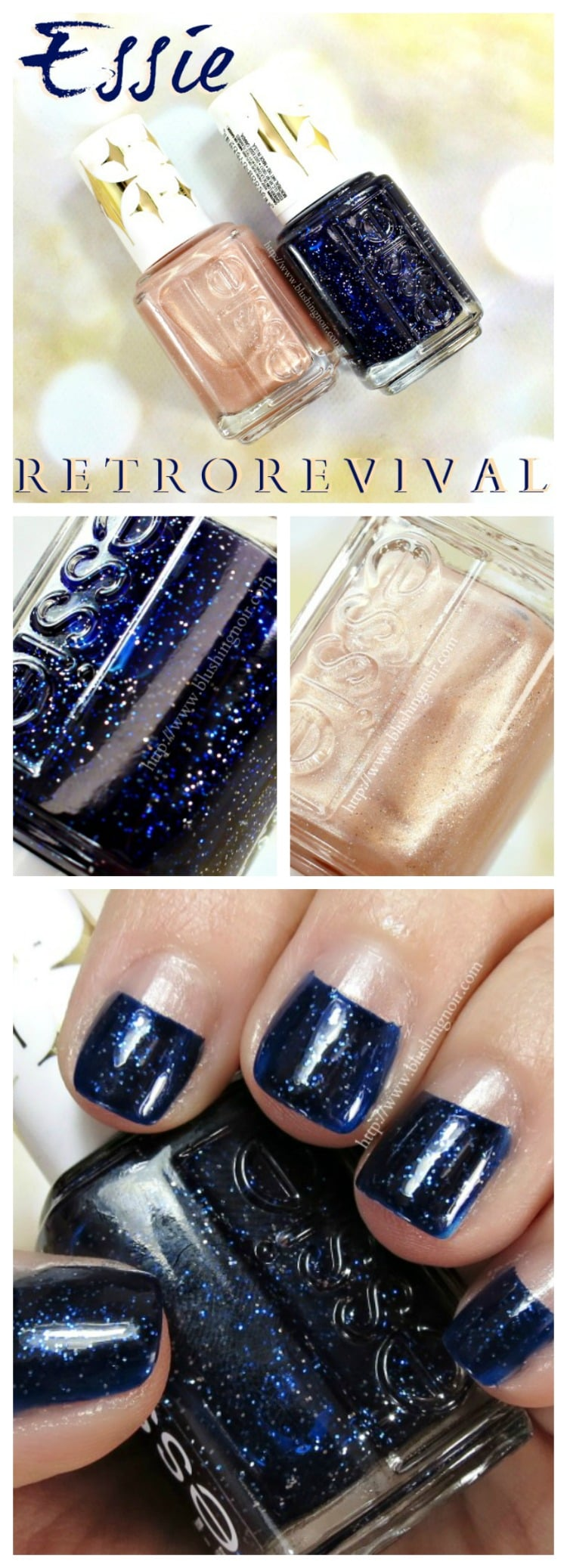 Essie Starry Starry Night Nail Polish Swatches Retro Revival Collection