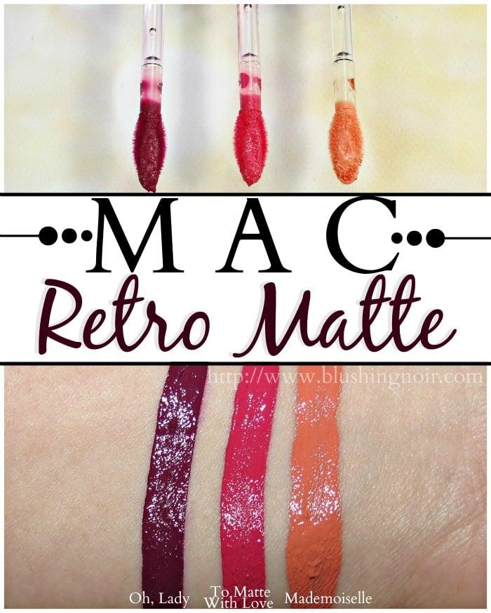 MAC Retro Matte Liquid Lipcolour swatches
