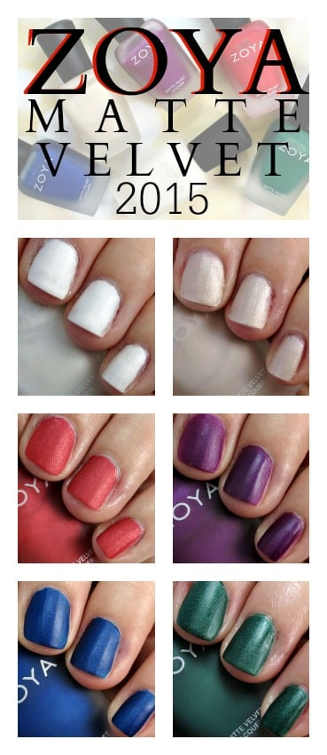 Zoya Matte Velvet Holiday 2015 Nail Polish Collection swatches review