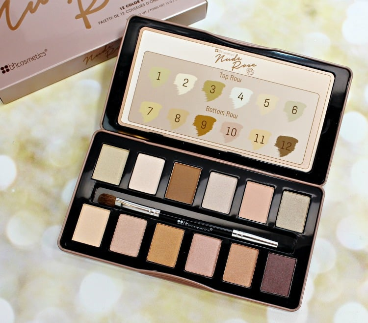 BH Cosmetics Nude Rose Eyeshadow Palette swatches review how to
