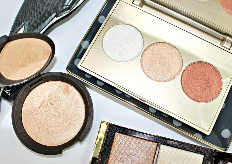 Becca Champagne Pop Jaclyn Hill Highlighter swatches review