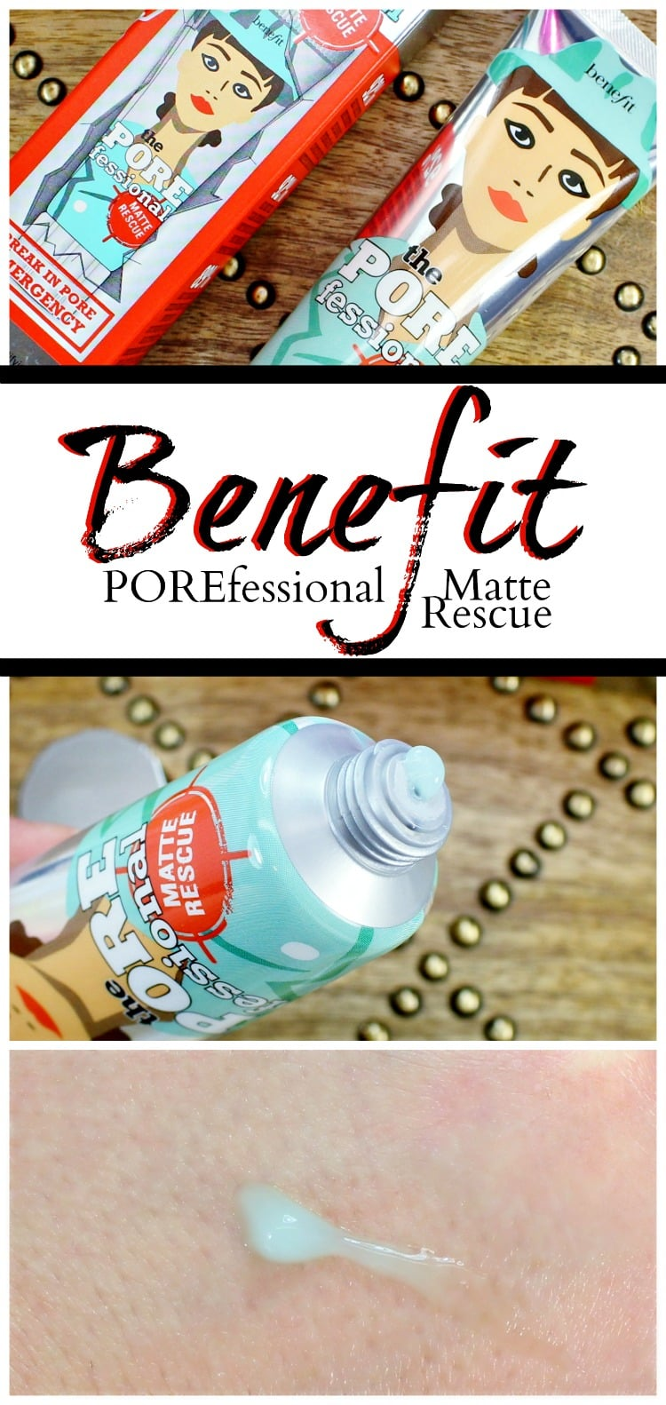 Benefit porefessional matte rescue swatches review