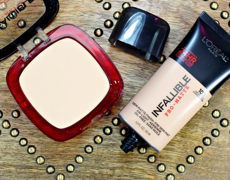Loreal Infallible pro matte swatches review