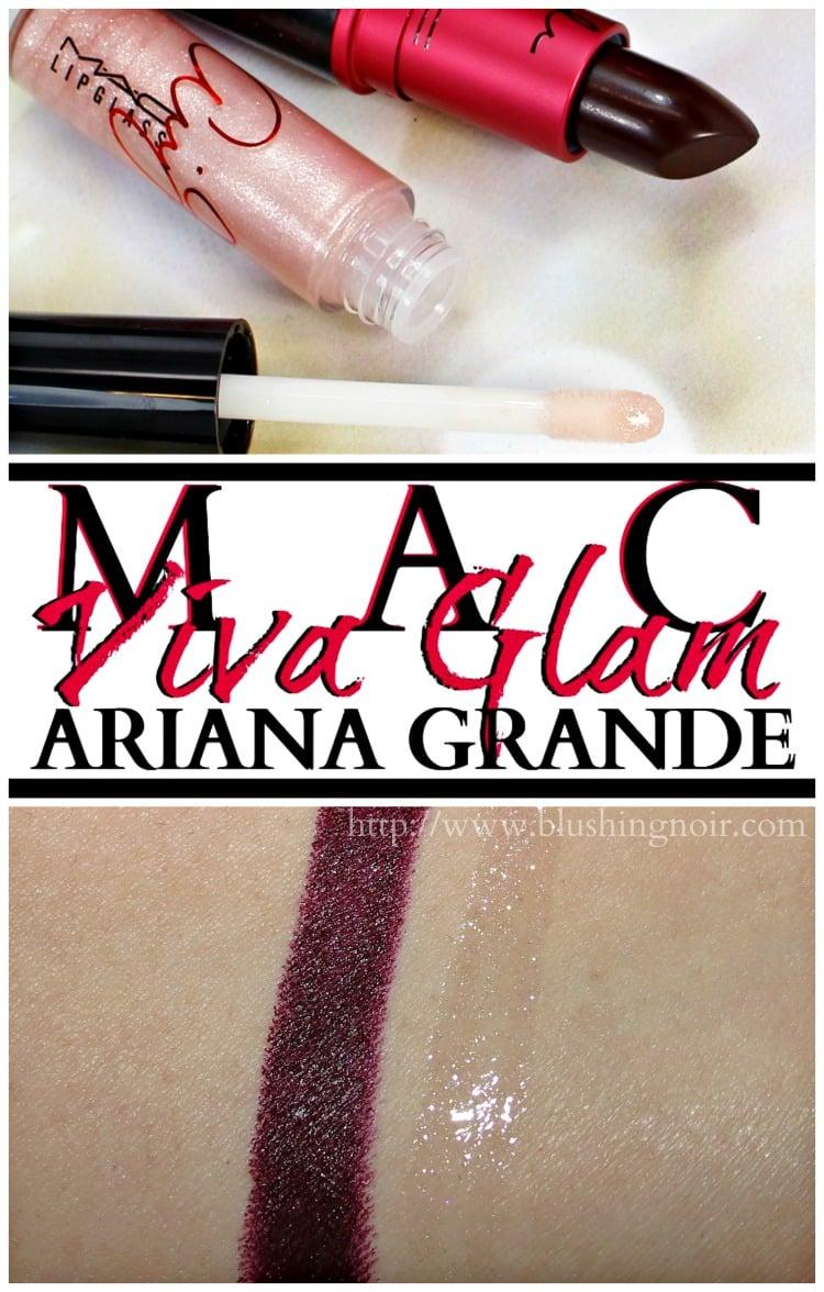MAC Viva Glam Ariana Grade lipstick lipglass swatches gloss