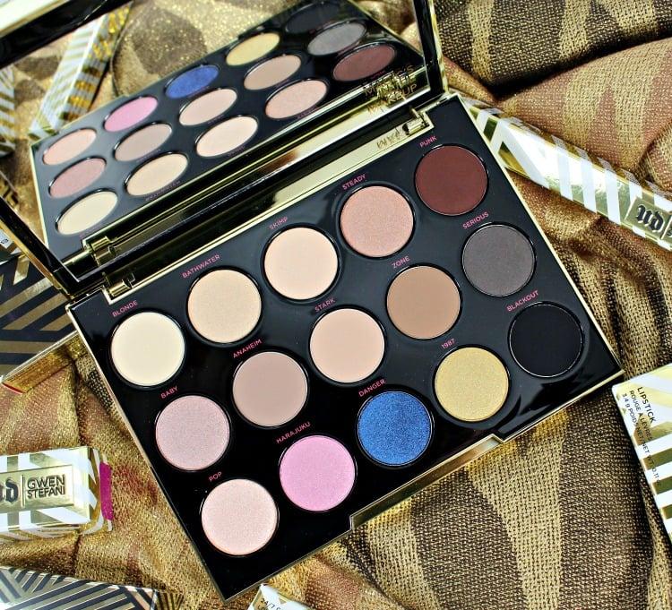 Urban Decay Gwen Stefani Eyeshadow Palette swatches photos