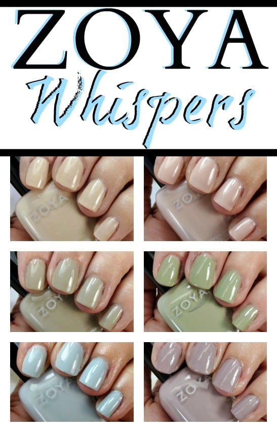 Zoya Whispers Nail Polish Swatches Review Photos lacquer