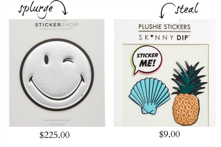 handbag stickers trends