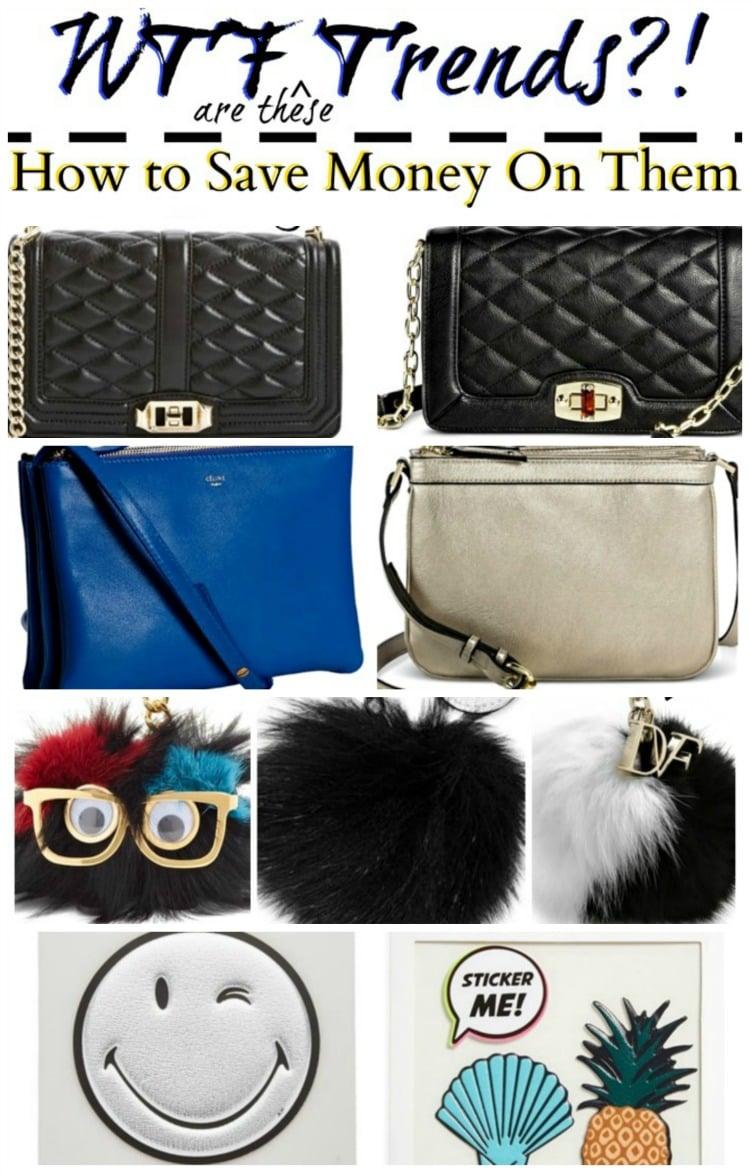 saving money on fashion trends handbags purse charms stickers
