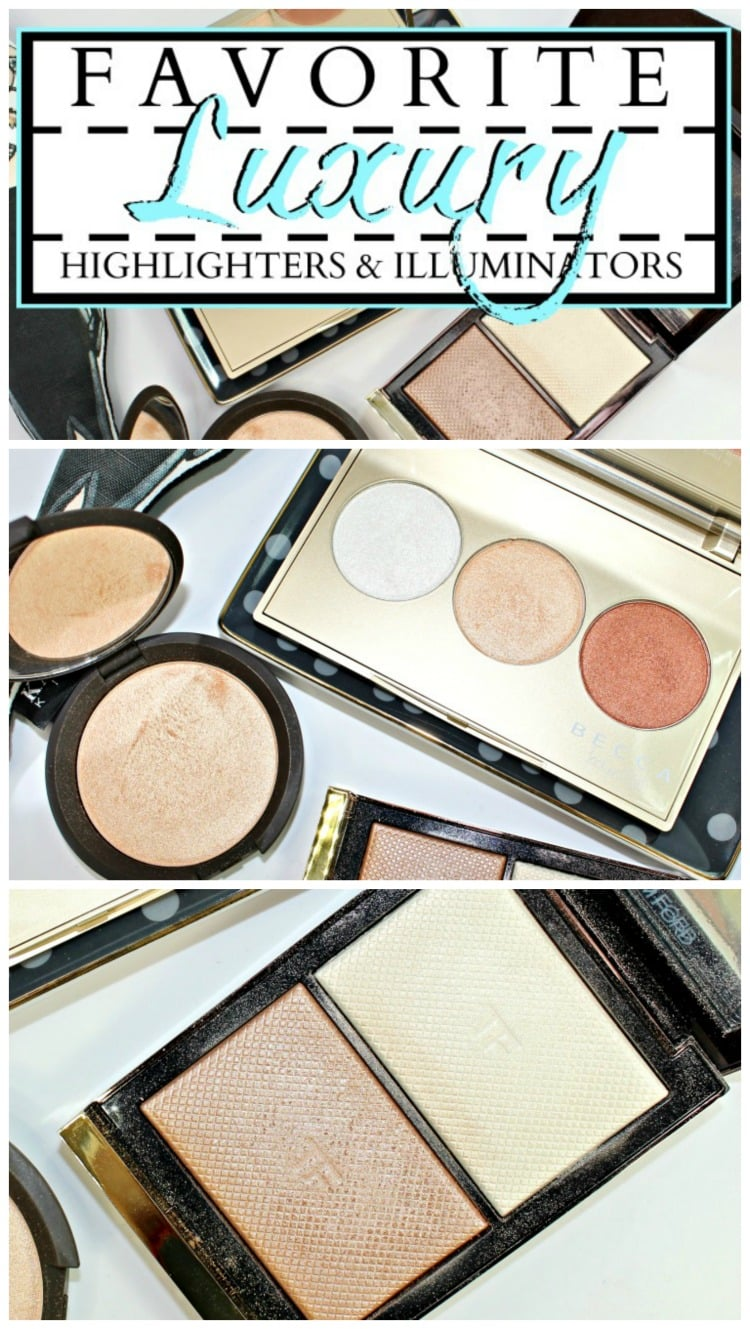the best luxury highlighters illuminators glow makeup swatches review