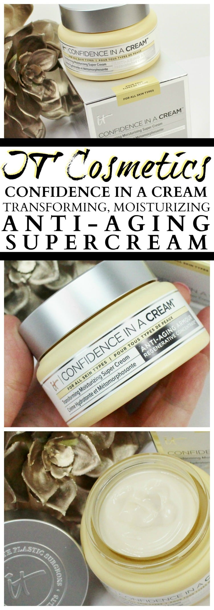 IT Cosmetics Confidence in a Cream moisturizer face lotion oily dry skin normal