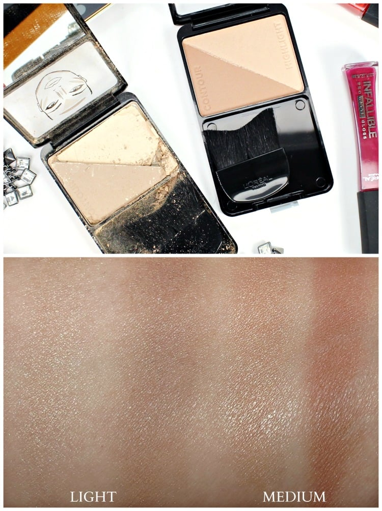LOREAL infallible pro-contour highlight palette swatches