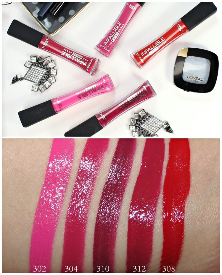 L'Oreal Infallible Pro Matte Gloss swatches