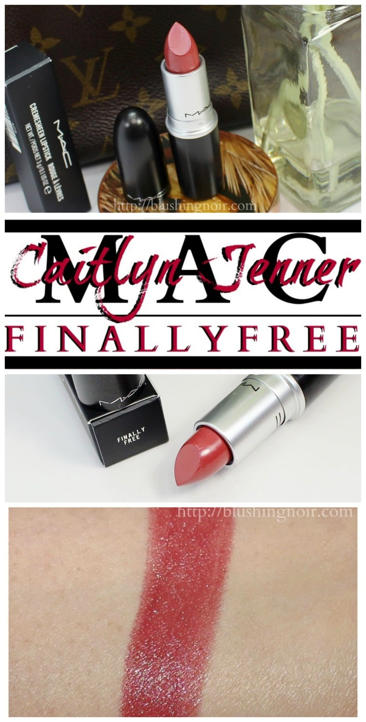 MAC Caitlyn Jenner Finally Free Lipstick swatches review pinterest