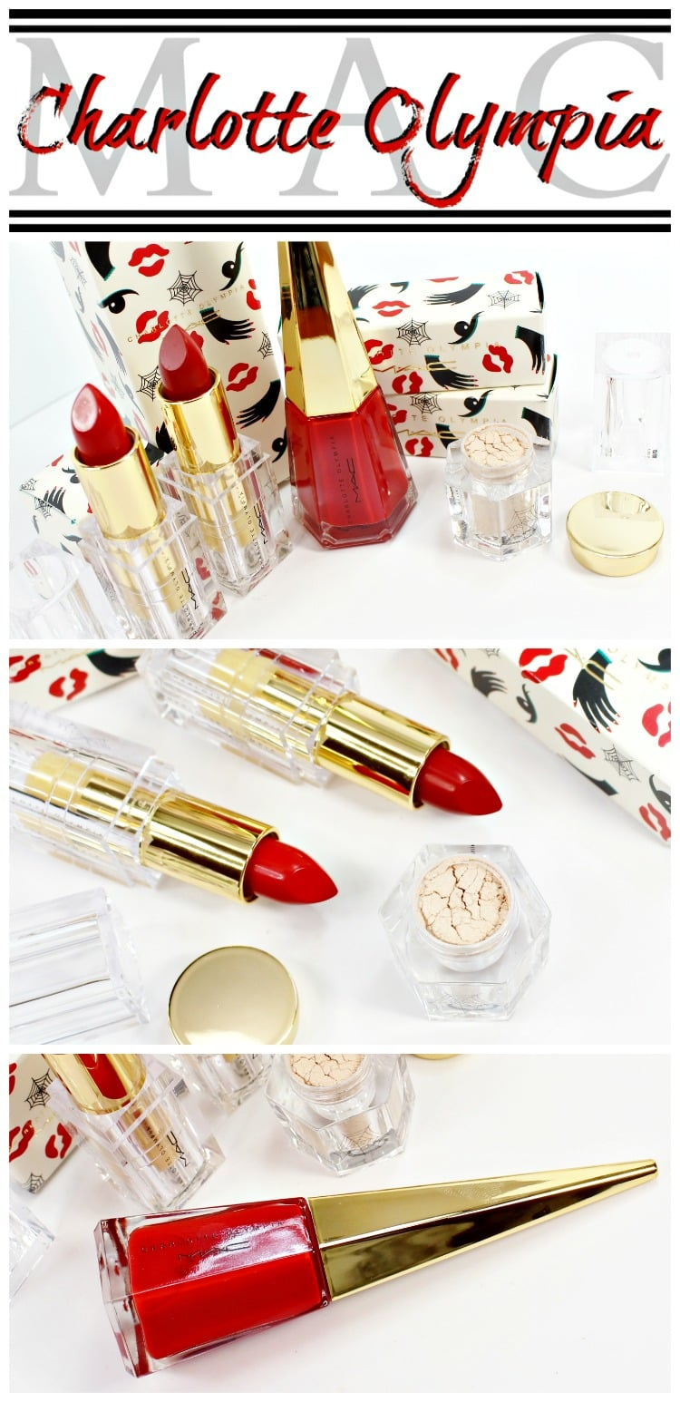 MAC Charlotte Olympia makeup collection swatches review fotd etod limited edition designer fashion