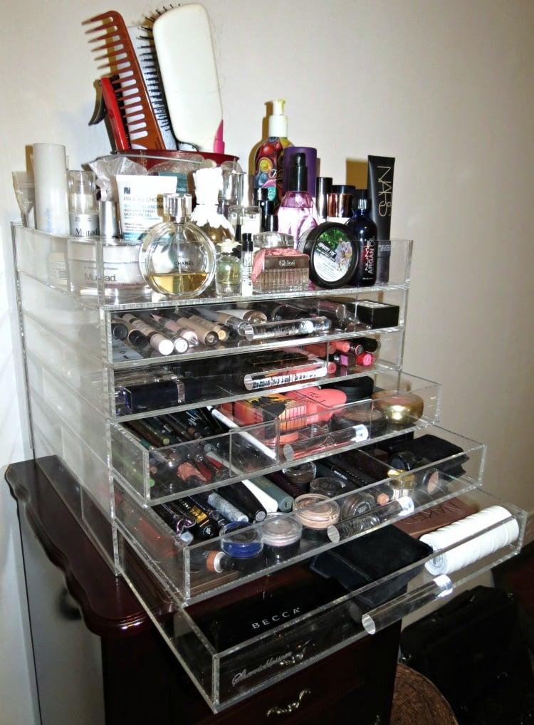 Sherrieblossom ICEbOX Makeup storage beauty organization open