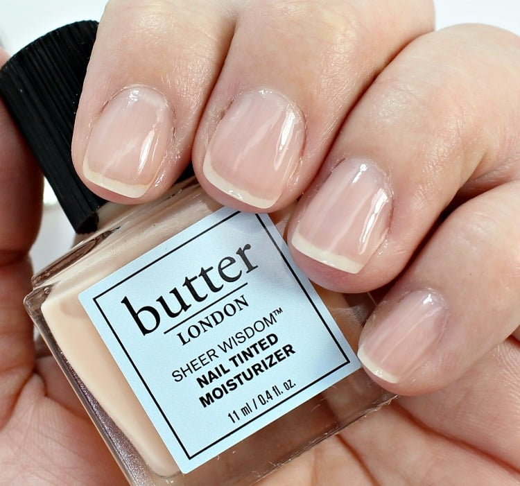 butter LONDON Sheer Wisdom Nail Tinted Moisturizer Fair Swatches review