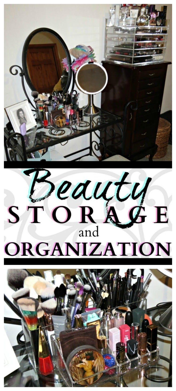 easy beauty storage makeup organization pinterest