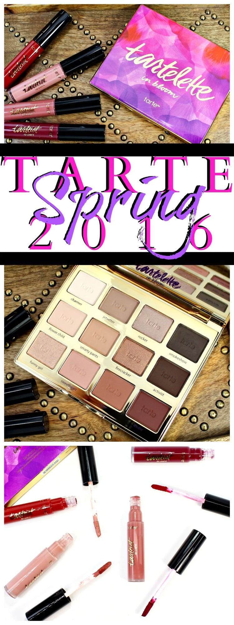 tarte makeup collection spring eyeshadow lipstick