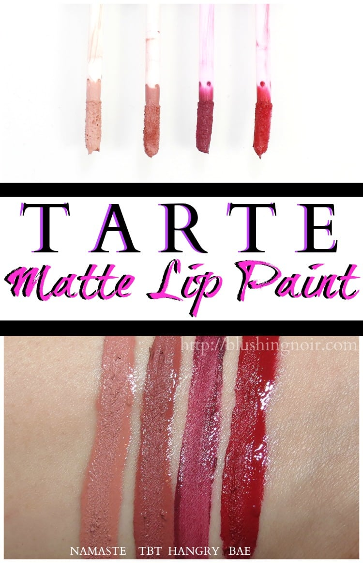 tarte matte lip paint swatches