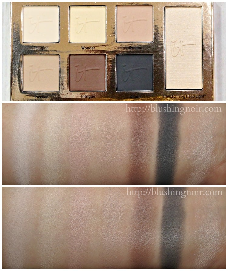 IT Cosmetics Naturally Pretty Essentials Matte Luxe Transforming Eye Shadow Palette swatches