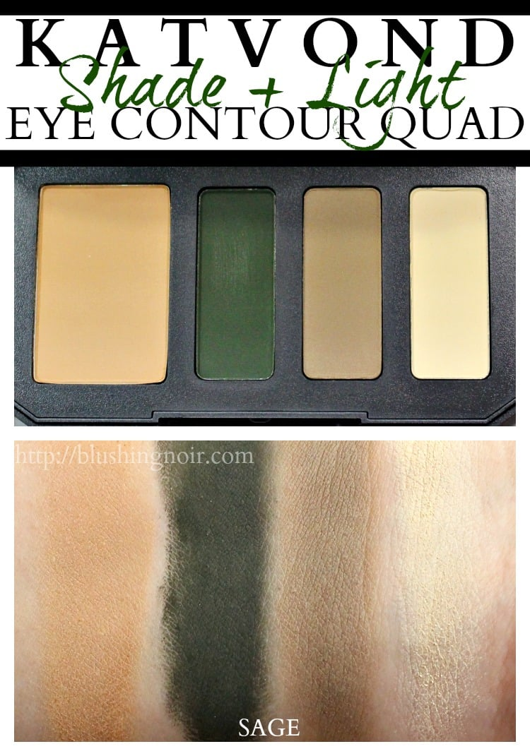 Kat Von D Sage Shade + Light Eye Contour Quad palette swatches