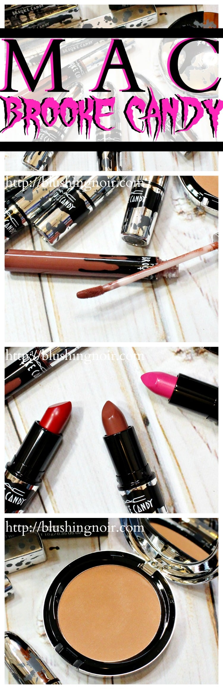 MAC Brooke Candy Collection swatches review pinterest