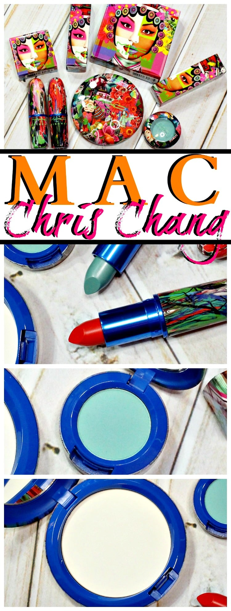 MAC Chris Chang Collection swatches review pics pinterest