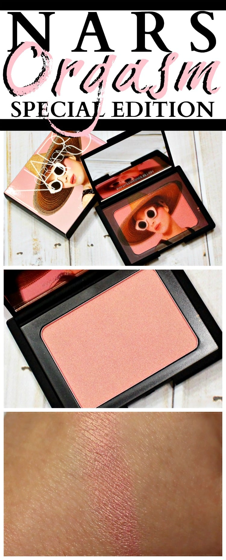 NARS Orgasm Blush Special Edition swatches pinterest