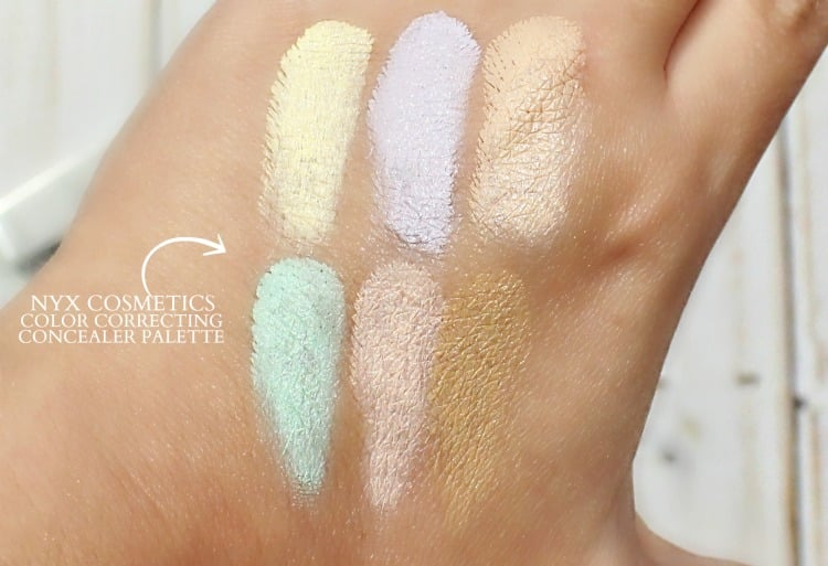 NYX Color Correcting Concealer Palette Swatches