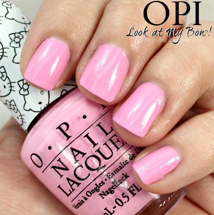 OPI Look at My Bow Nail Polish Swatches - Blushing Noir
