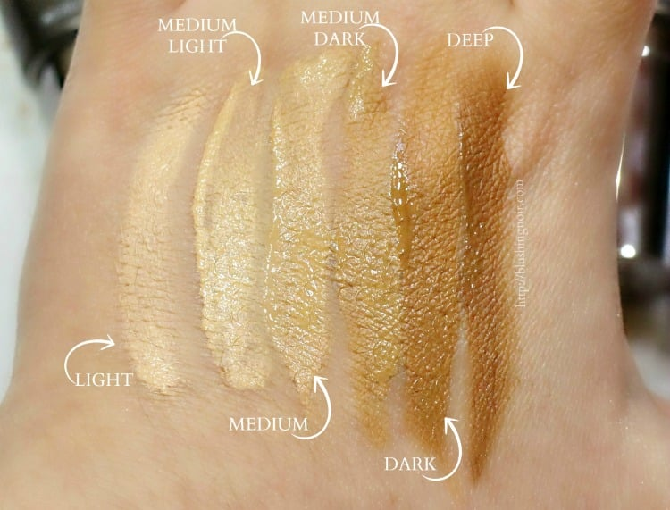 Urban Decay Naked Skin One & Done Swatches