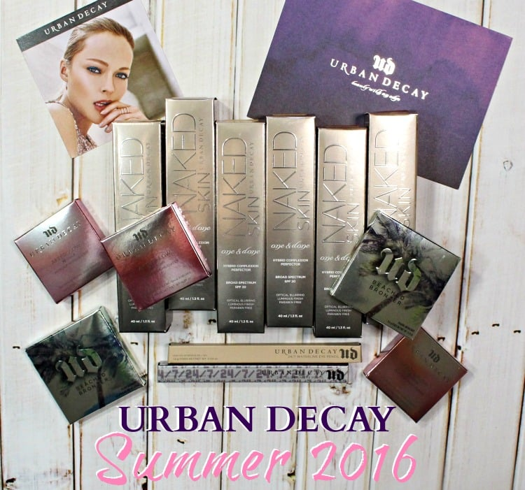 Urban Decay Summer 2016 makeup collection swatches review