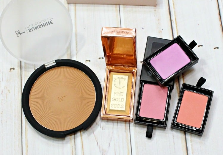 low maintenance high maintenace cheek products bronzer highlighter blush charlotte tilbury gold bar swatches