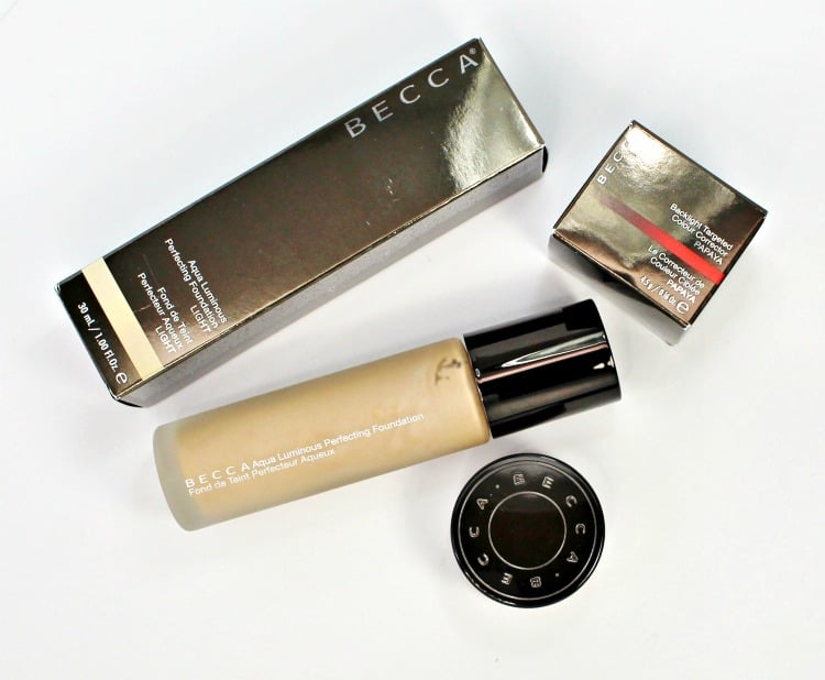 BECCA Aqualuminous Foundation review swatches