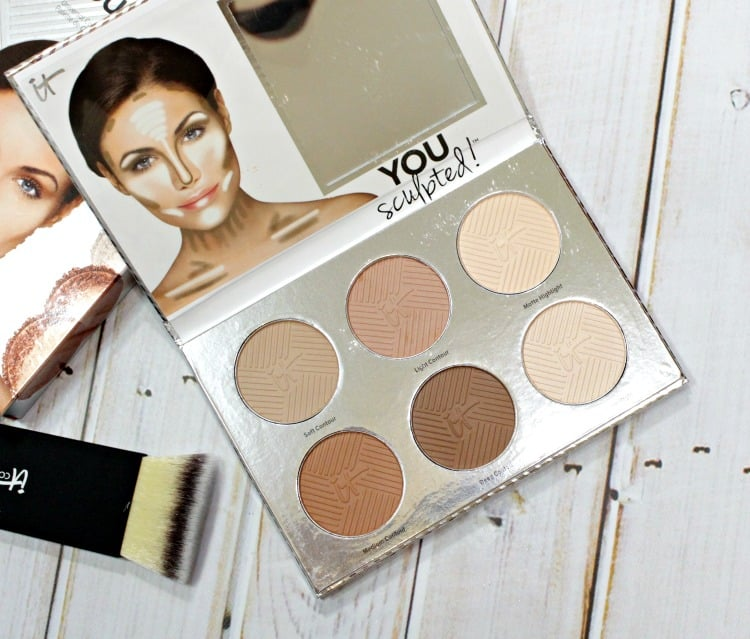 IT Cosmetics You Sculpted Face & Body Highlight Contouring palette swatches review how-to guide