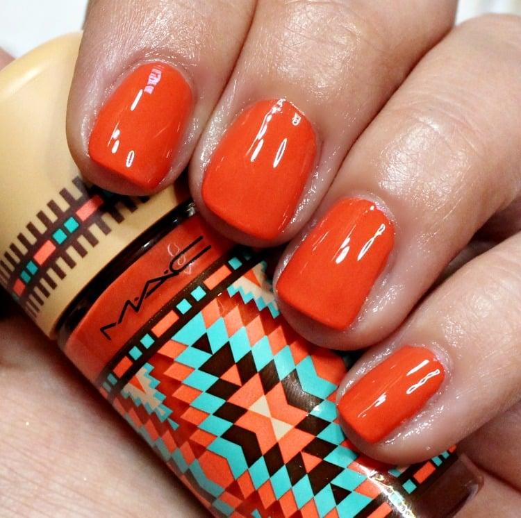 MAC Blazing Hot Nail Polish Swatches Vibe Tribe
