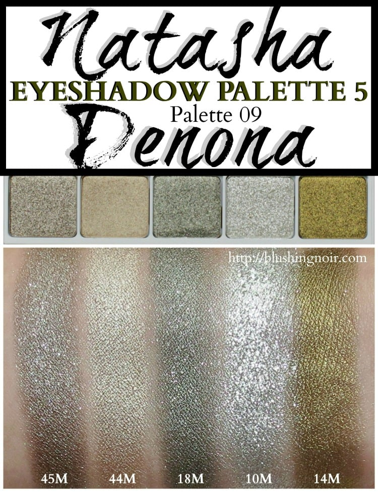 Natasha Denona Eyeshadow Palette 5 Palette #09 swatches review photos