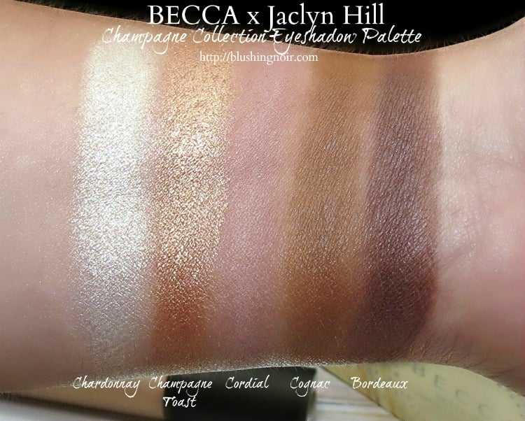 BECCA x Jaclyn Hill Champagne Collection Eyeshadow Palette swatches
