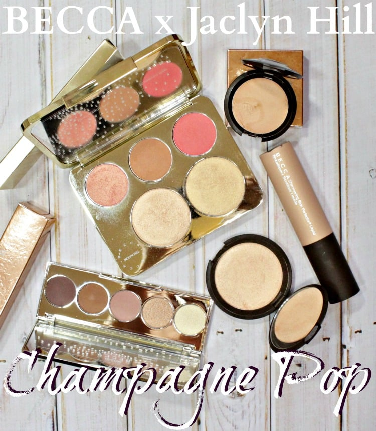 Becca x Jaclyn Hill Champagne Pop Collection swatches review photos pics sephora