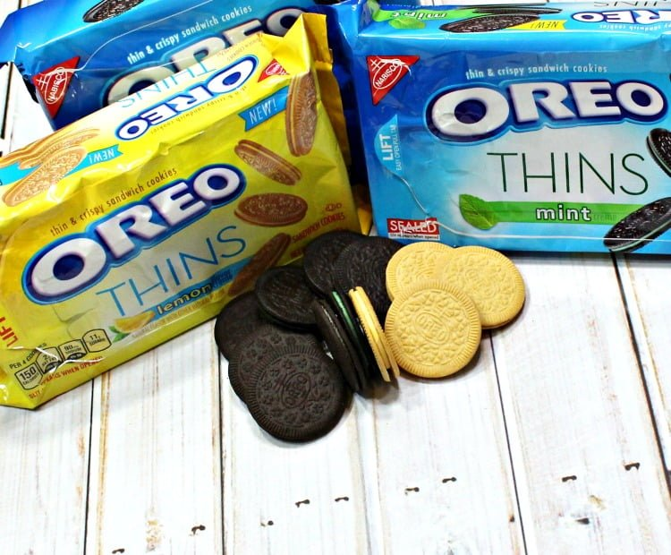 OREO THINS adult sandwich snack cookies